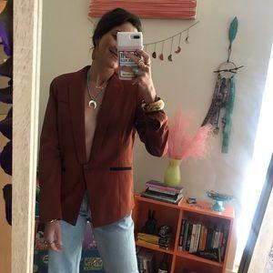 forever 21 | copper structured blazer